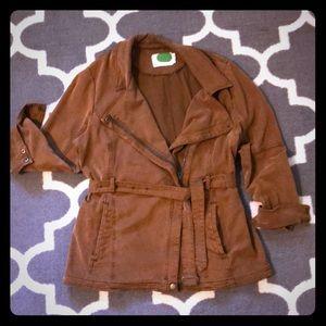 Anthro Belted Jacket in Cognac